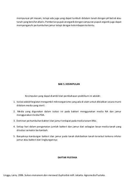 Laporan isolasi bakteri