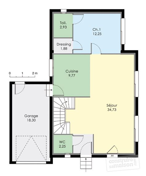 ouverture cuisine sur sejour maison à étage 2 dé du plan de maison à étage 2