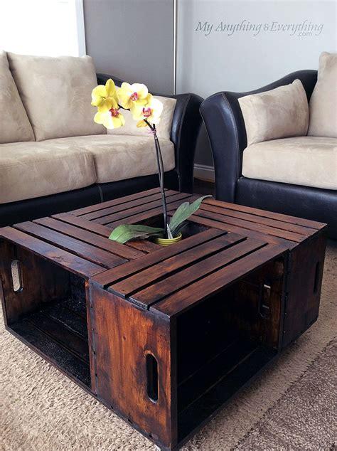 hometalk diy crate coffee table
