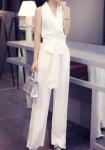 Combinaison Femme Pour Mariage : combinaison pantalon palazzo large avec noeud papillon ~ Mglfilm.com Idées de Décoration