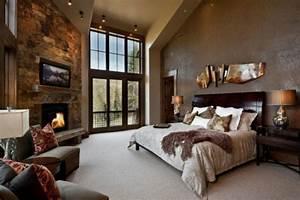 decoration chambre design feria With couleur chaleureuse pour salon 15 que faire avec un rondin de bois idees en photos