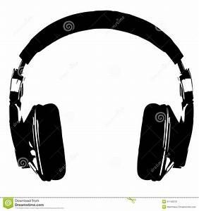 Headphones Silhouette Stock Vector - Image: 51142270
