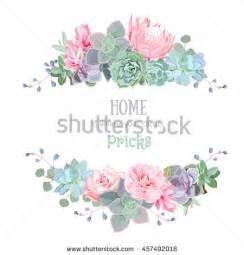 carnation bouquet wedding floral vector design frame stock vector