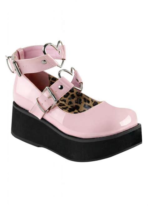 demonia sprite  shoe pink patent attitude clothing