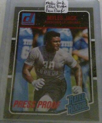 Myles Jack 2016 Donruss Press Proof Red Rated Rookie #387 ...