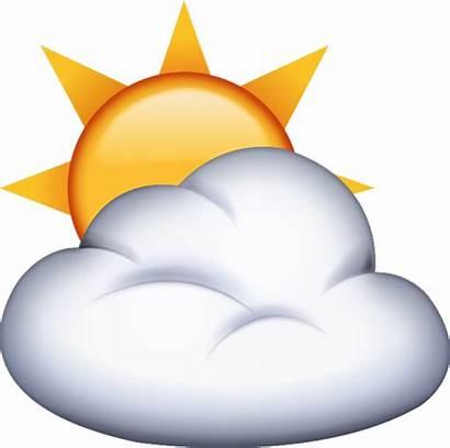 Emoji Cloud Sun Behind Background Digital Does