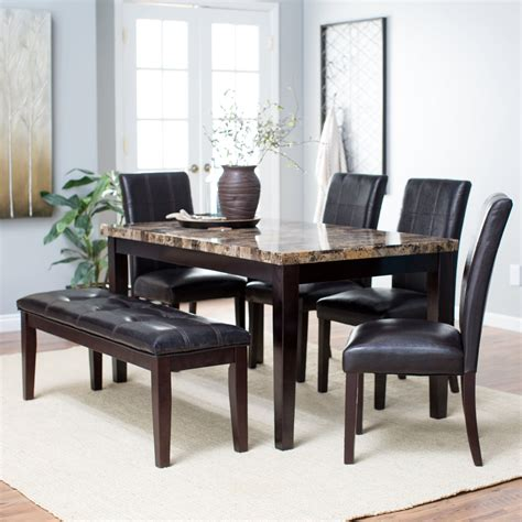 finley home palazzo  piece dining set  bench