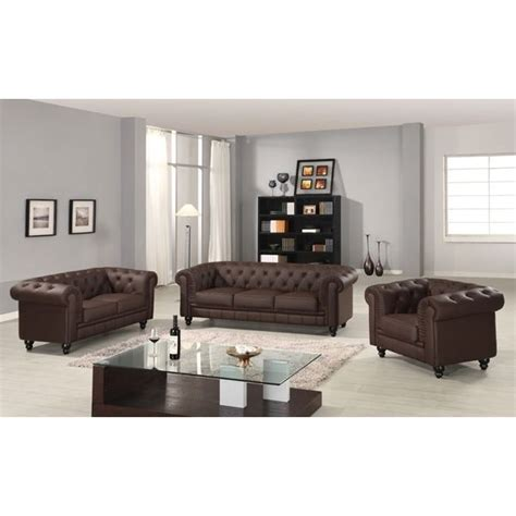 canapé chesterfield occasion canape chesterfield marron capitonne 3 2 1 places achat