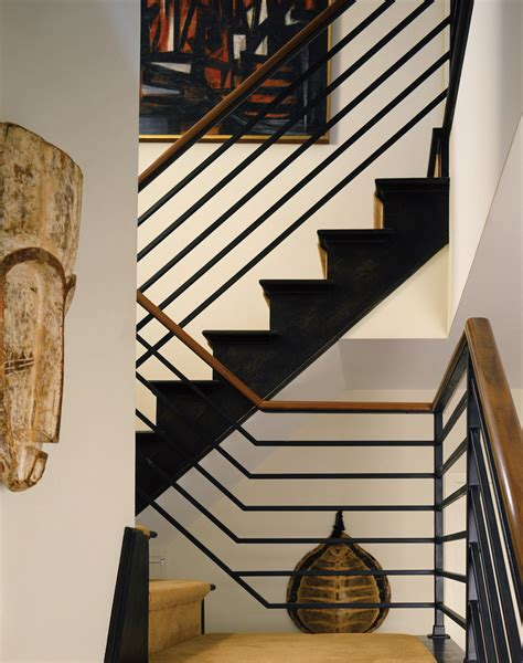 Black Sectional Living Room Ideas by Interior Metal Stair Railing Staircase Traditional With