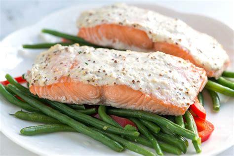baking salmon easy sour cream baked salmon recipe