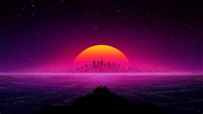 Retro Wallpapers 4k Laptop Aesthetic Sunset 1080p