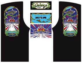 galaga arcade cabinet graphics for reproduction marquee cpo