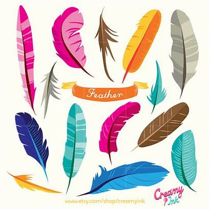 Feathers Clipart Bird Feather Clip Vector Birds