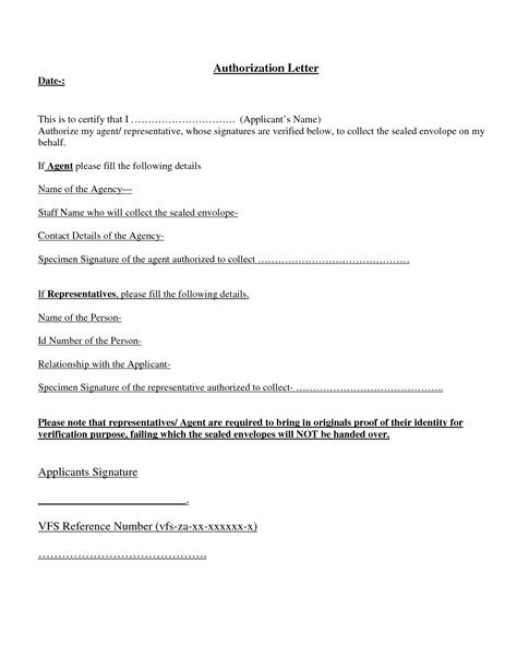 authorization letter behalf writing professional letters