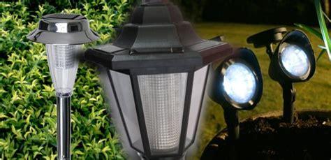 lamparas solares  jardin tipos  modelos