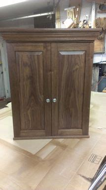 custom  walnut dart board cabinet  bbg woodworks