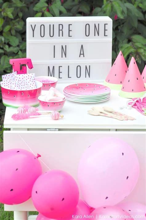 kara 39 s party ideas watermelon fruit summer girl 1st watermelon themed diy birthday party by kara 39 s party ideas