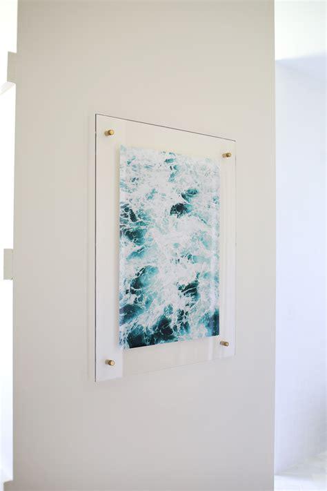 painting on plexiglass floating acrylic frame diy a beautiful mess