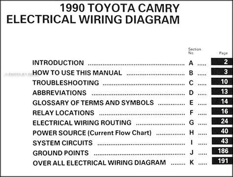 toyota camry wiring diagram manual original