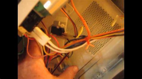 ge microwave repair runs  door  open light bulb  working youtube