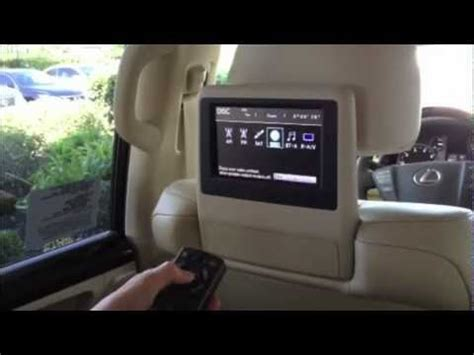 lexus rear entertainment youtube