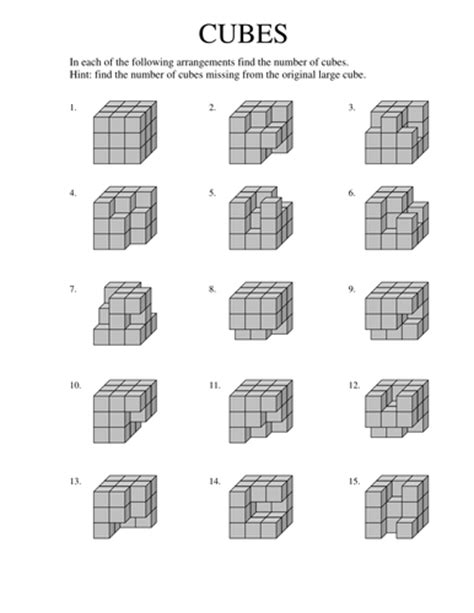 count the cubes by tumshy teaching resources