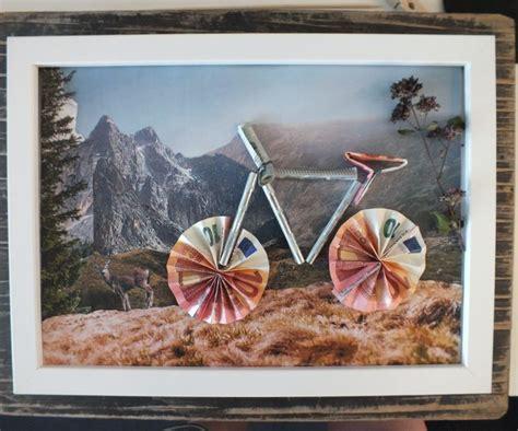 geldgeschenk fahrrad basteln anleitung zum nachbasteln