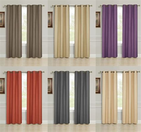 Drapes Sizes - 2 panel solid lined thermal blackout grommet window