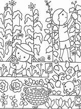 Coloring Pages Colouring Flower Print Garden Gardens Gardening Flowers Colour Vegetable Hubpages Vegetables sketch template