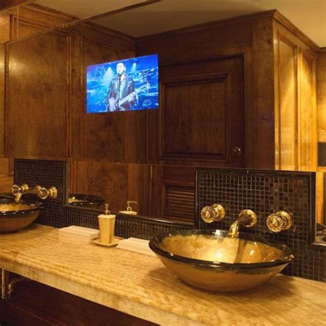 Mirror Tv For Bathroom by Bathroom Mirrors With Built In Tvs House Remodel Tv