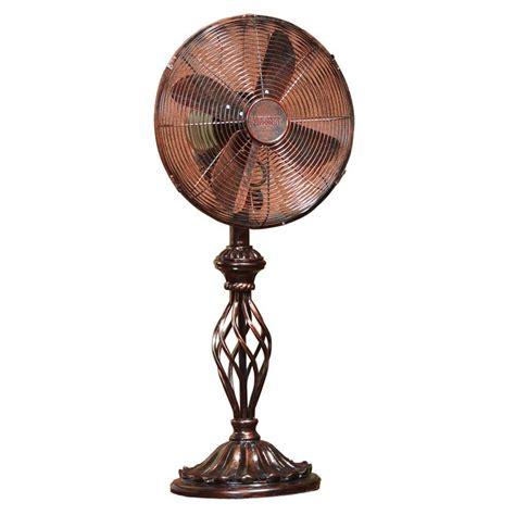 table fans at home depot deco breeze 12 in prestige rustica table fan dbf0503