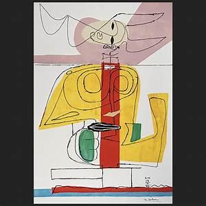 Le Corbusier Werke : taureau lithographie 1 auflage 1963 verkauft le corbusier der k nstler ~ A.2002-acura-tl-radio.info Haus und Dekorationen