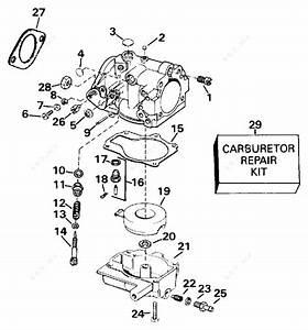 Evinrude 1994 35 - E35rlerm  Carburetor 25