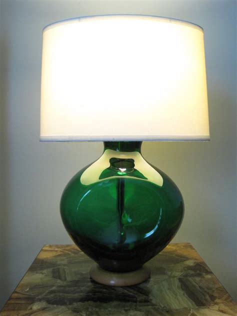 reserved  sam blenko table lamp emerald green glow