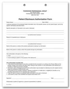 part patient disclosure authorization hipaa form