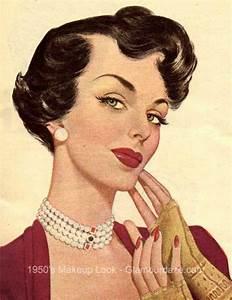 1950s-makeup-face.   1950s Makeup   Pinterest   1950s ...