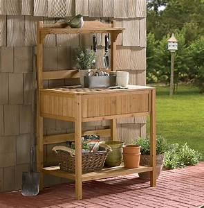 Garden, Potting, Bench