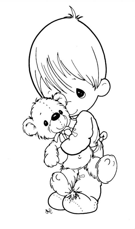 coloring pages precious moments.  Baby Boy Precious Moments Coloring Pages