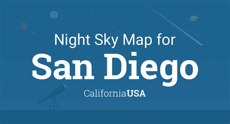 night sky map planets visible tonight  san diego
