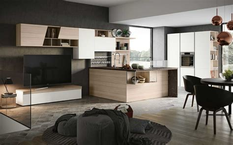 cucina soggiorno open space come arredare un open space moderno pensarecasa