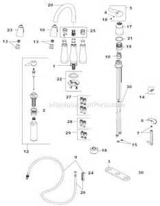leland kitchen faucet delta faucet 978 sd dst parts list and diagram