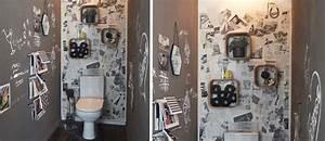 Décorer Ses Toilettes : d corer ses toilettes diy pour refaire les murs de ses ~ Premium-room.com Idées de Décoration