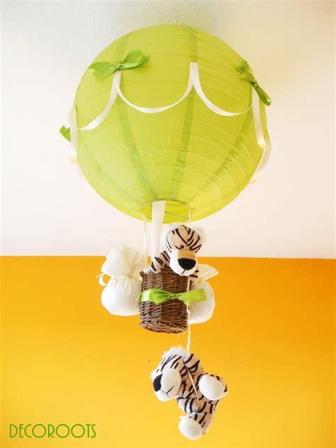 le montgolfière tigre vert et beige enfant bébé