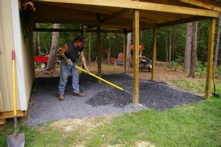 lean  shed bernies lean   gravel photo shed