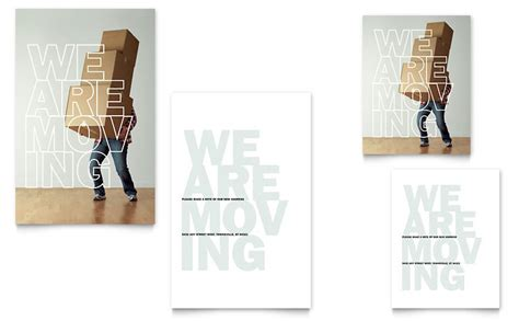 moving note card template word publisher