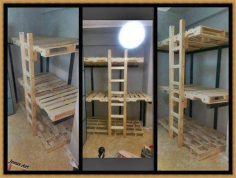 lits superpos 233 s construit avec palettesmeuble en palette meuble en palette