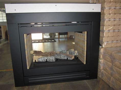 heat glo double sided gas fireplace