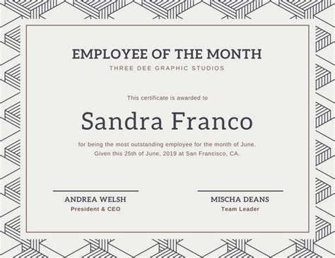 employee of the month certificate template orange and blue vector employment certificate templates by canva