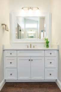 Bathrooms with White Shaker Style Cabinets