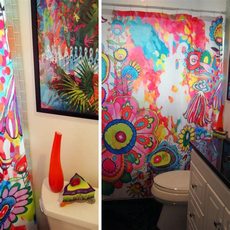 colorful shower curtains colorful bathroom shower curtain deny designs